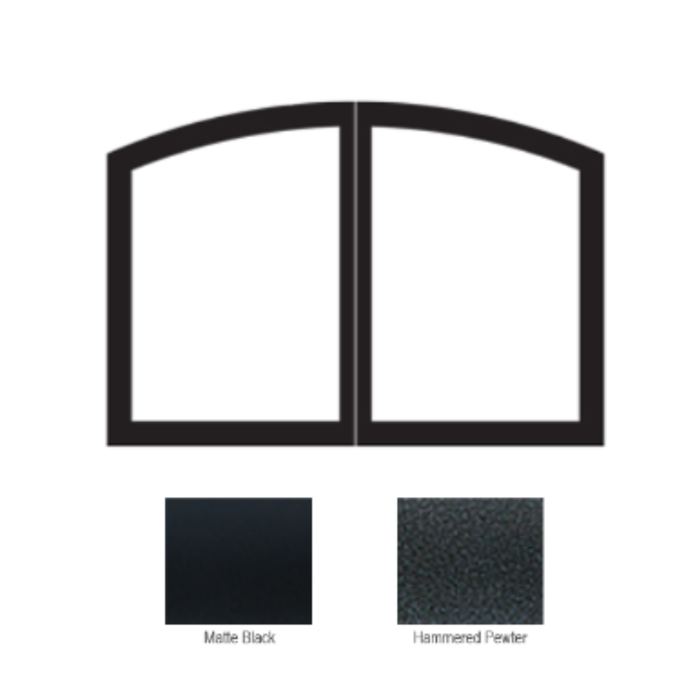 Empire Hammered Pewter Arch Door Set | VBR42SCHP |