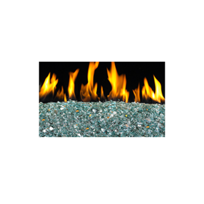 "Realfyre Azuria Reflective' 1/4"" Crushed Fire Glass 10 lbs 