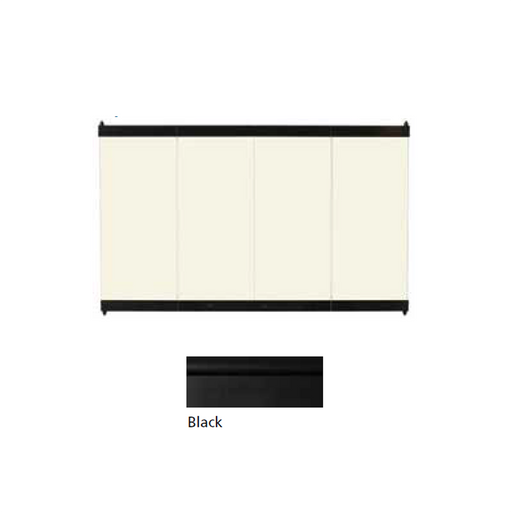 Superior Black on Bronze Tinted Glass Enclosure Panel | GEP-33BL