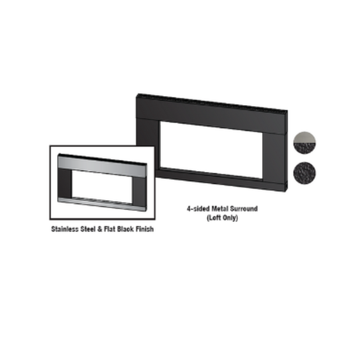 Empire Black Surround with Barrier | SQ2562BL |
