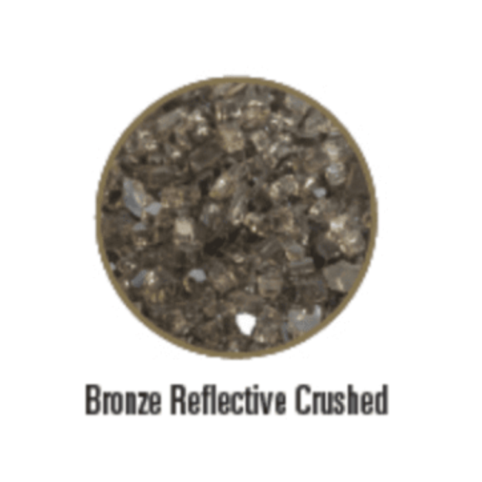Empire Decorative Crushed Glass Bronze Reflective | DG1BZR |