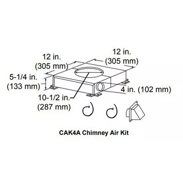 Majestic Chimney air kit Venting Component | CAK4A