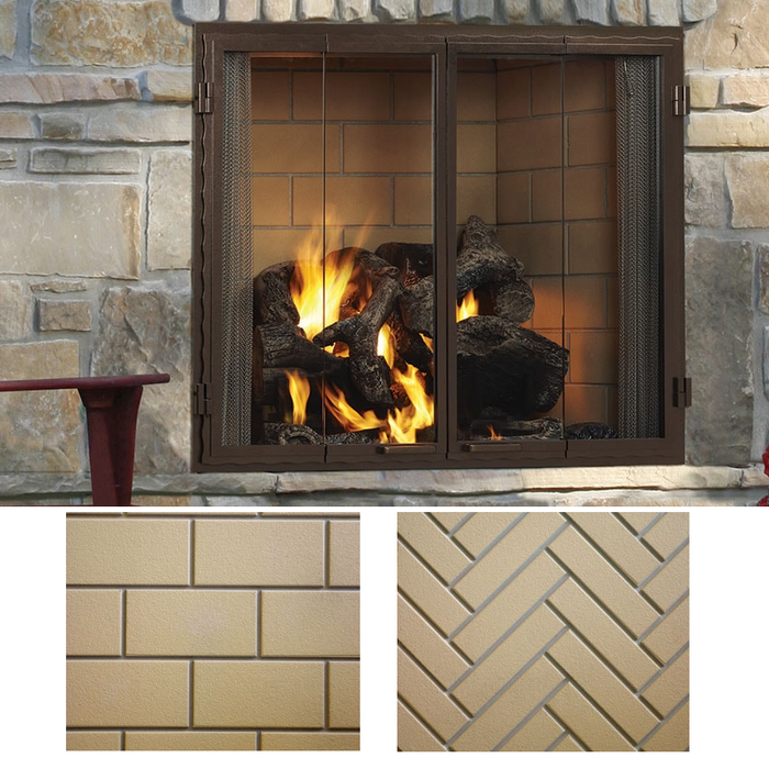 "Majestic Castlewood 42"" Outdoor Wood Burning Fireplace 