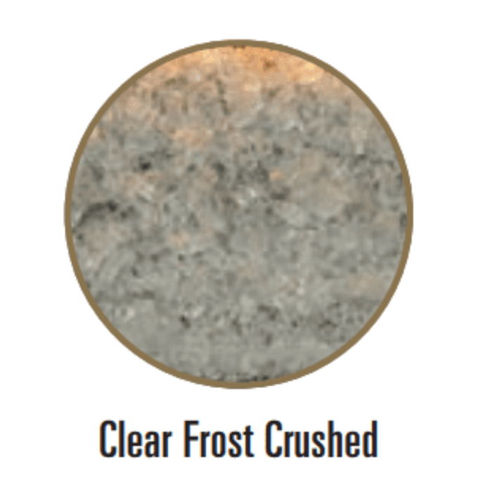 Empire Decorative Crushed Glass Clear Frost | DG1CLF |