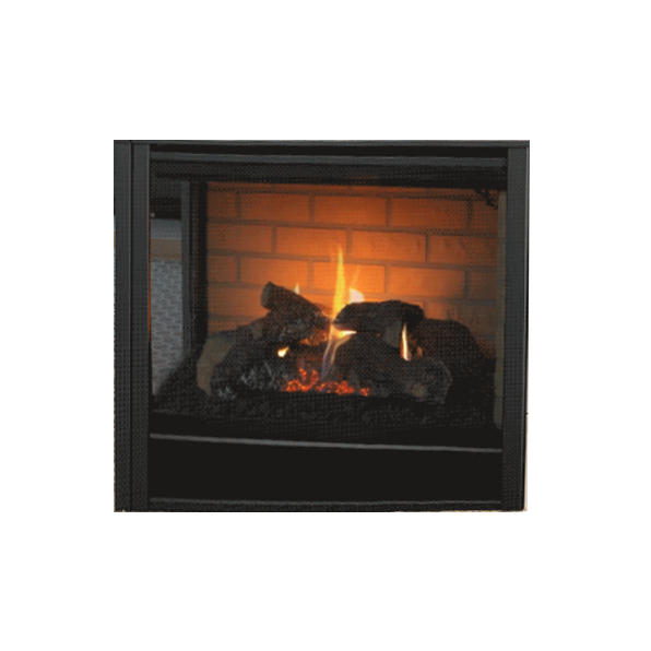 Majestic Black Corner End Panel Firescreen Front | COREP-36BK