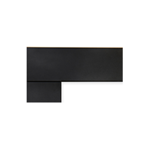 Superior Black Matte Decorative Surround | DS-BLK-RNCL45