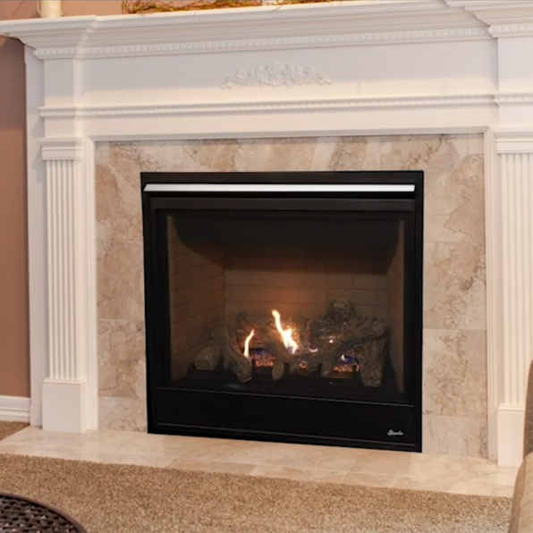 Superior 35 Inch Direct Vent Traditional Gas Fireplace ...