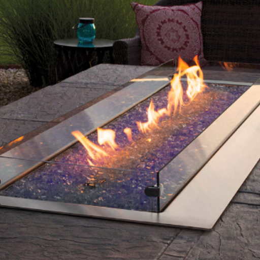 Empire Carol Rose Coastal Linear 48 Vent Free Outdoor Gas Fire Pit | OL48TP