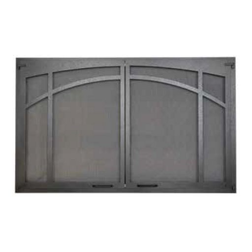Superior Textured Iron Arched Screen Door | ASD3224-TI