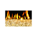 "Gold Reflective 1/4"" Crushed Fire Glass 10 lbs 