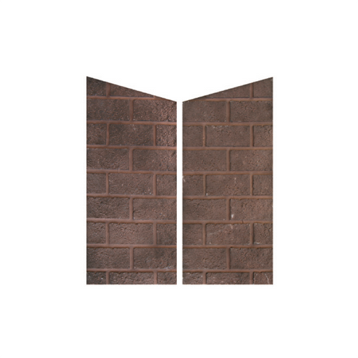 Modern Flames Red Herringbone Brick Side Panels | HFPN-RH