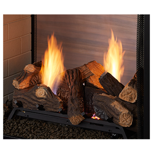 "Monessen 27"" Natural Blaze See-Through Log Set 