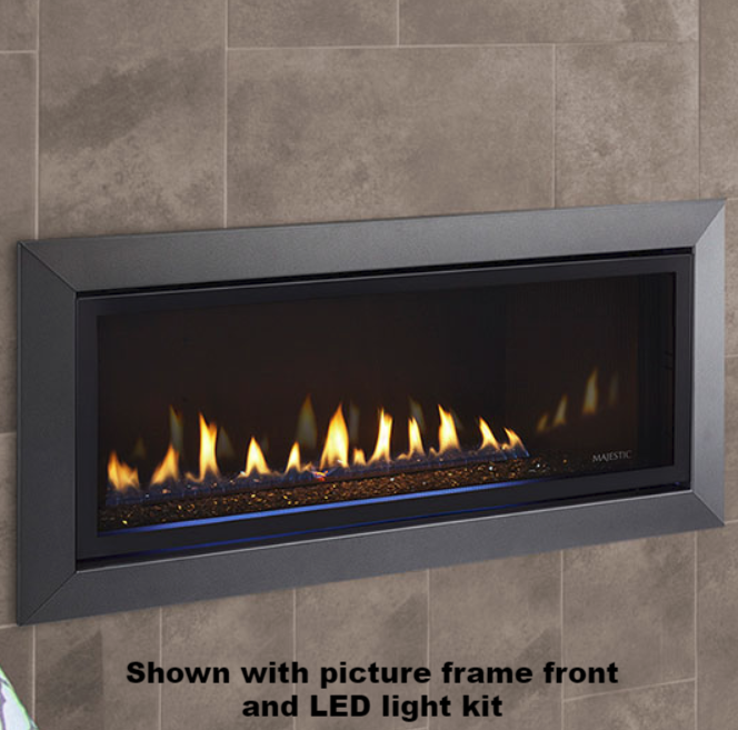 Majestic Jade 42 Inch Linear Direct Vent Gas Fireplace