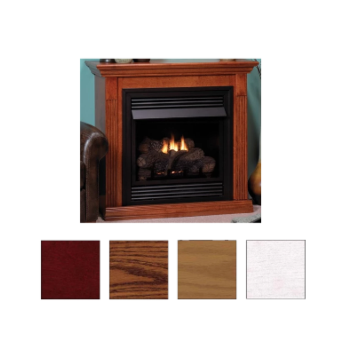 Empire Dark Oak Corner Cabinet Mantels with Bases | EMBC4SDO |