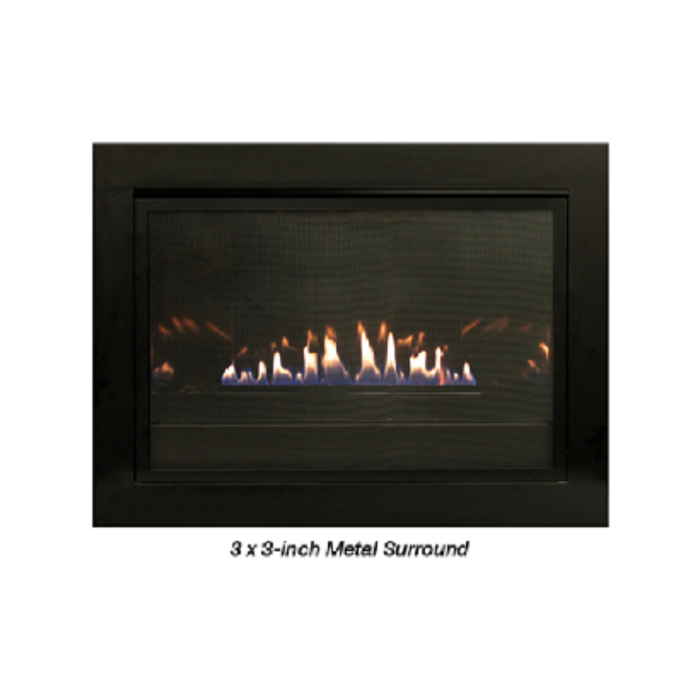 "Empire Black 3-Sided Surround (34"" W x 21.5"" H x 1"" D) 