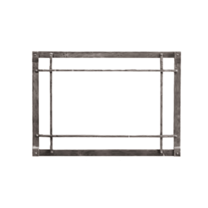 Empire Distress Pewter Rectangular Forged Iron Front | DFF30CPD |