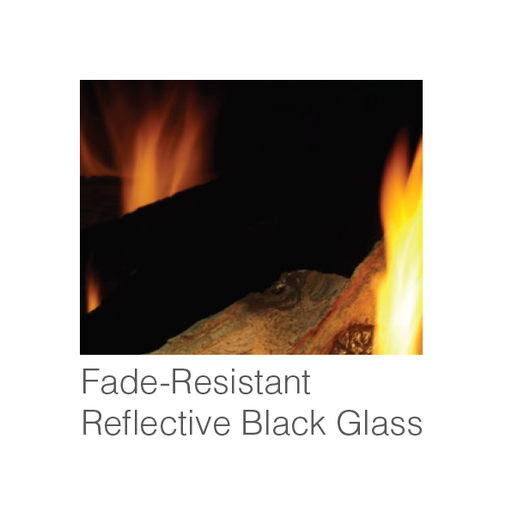 Majestic Reflective BLk Glass Interior Panels - Meridian 36 | GL36MER