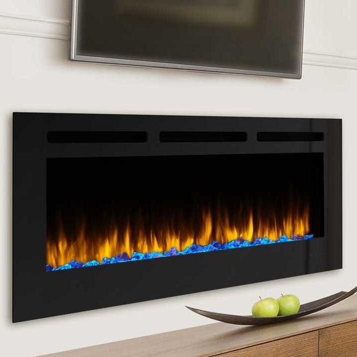 simplifire allusion 48 inch wall mounted electric fireplace sf all48. Black Bedroom Furniture Sets. Home Design Ideas