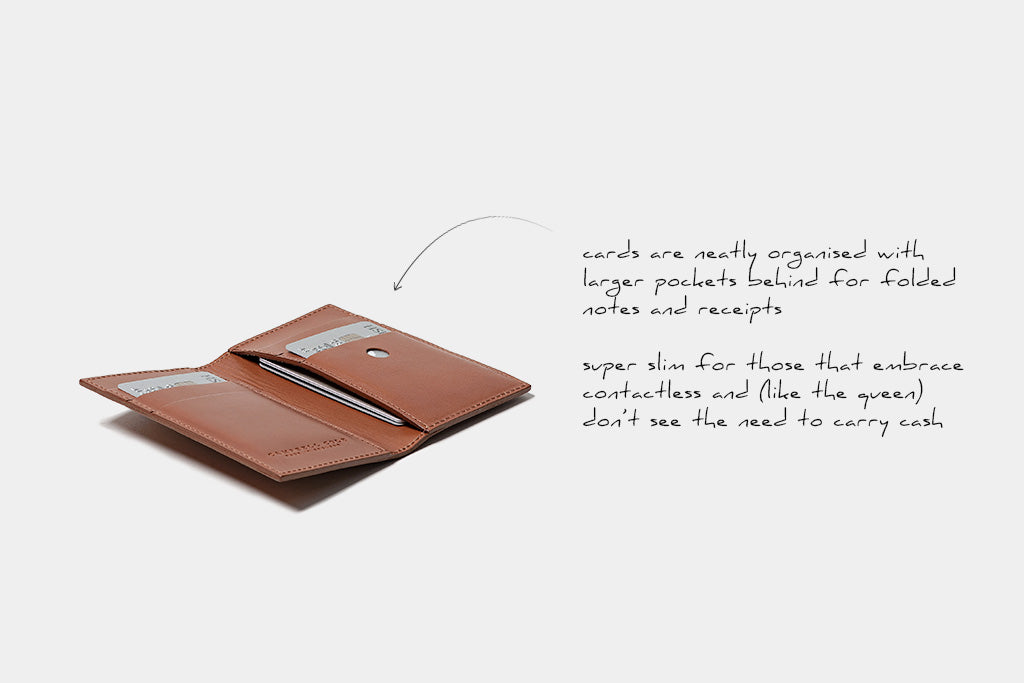 Slim Card Wallet Tan