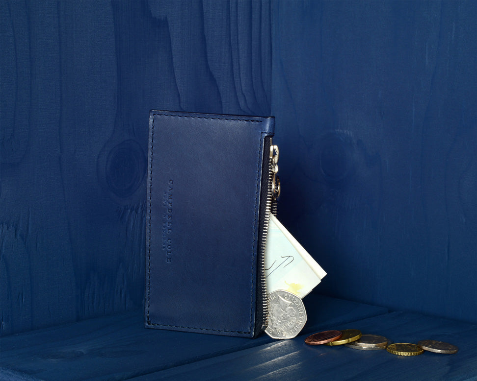BLUE COIN WALLET - MADE IN ENGLAND