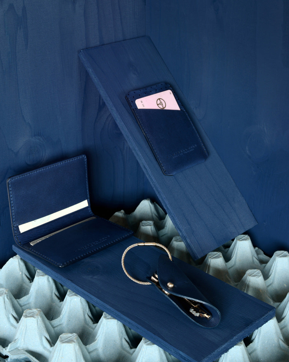 MINIMALIST BLUE ACCESSORIES - MADE IN ENGLAND