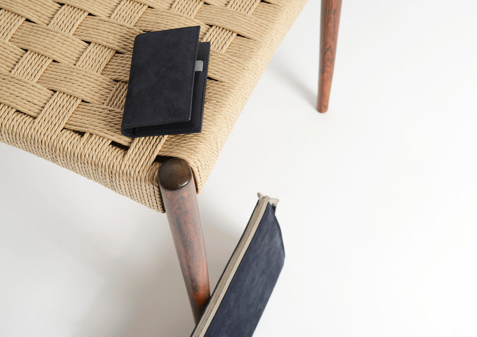 CAMPBELL COLE SUEDE CARD WALLET - MINIMALIST ACCESSORIES