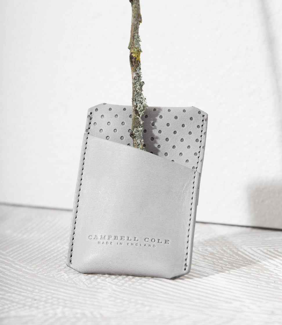 SIMPLE, MINIMAL CAMPBELL COLE CARD HOLDER WITH EMBOSS DETAIL