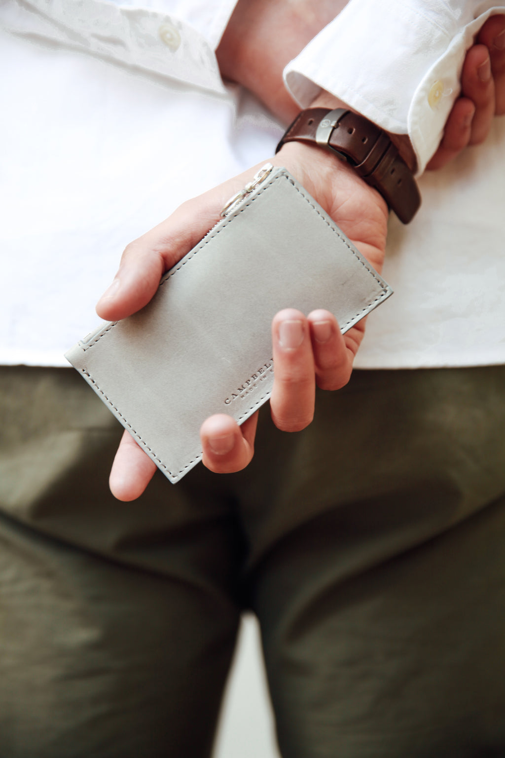 Matthew Pike Light Grey Coin Pouch