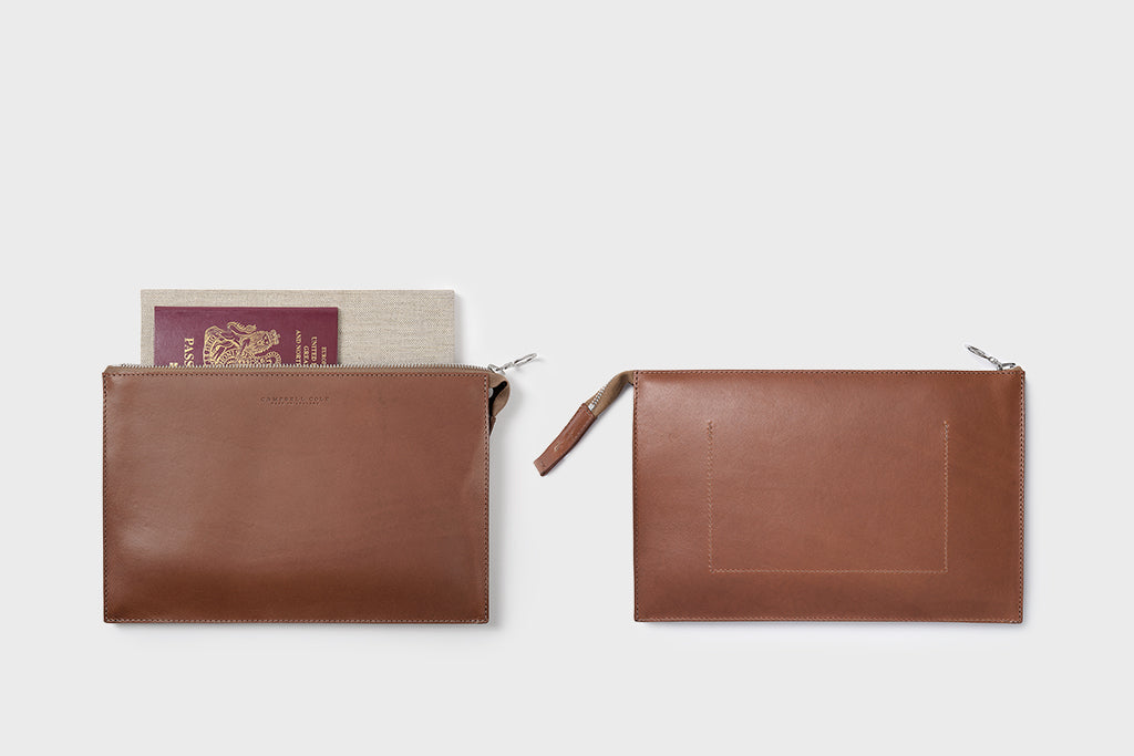 Campbell Cole Simple A5 Pouch Tan