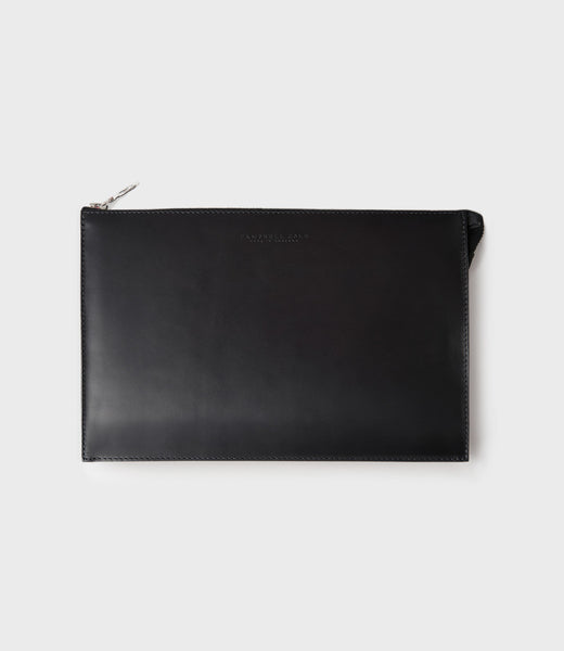 REBEL - SIMPLE A5 POUCH - BLACK
