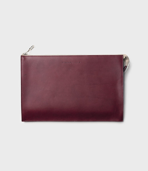 REBEL - SIMPLE A5 POUCH - BURGUNDY