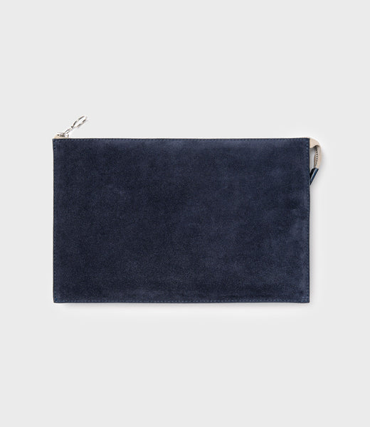 SIMPLE A5 POUCH - NAVY SUEDE