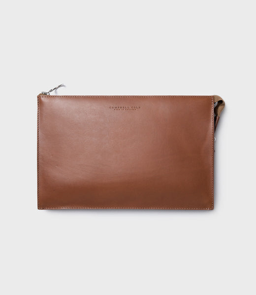 SIMPLE A5 POUCH - TAN