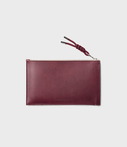 REBEL - SIMPLE A6 POUCH - BURGUNDY
