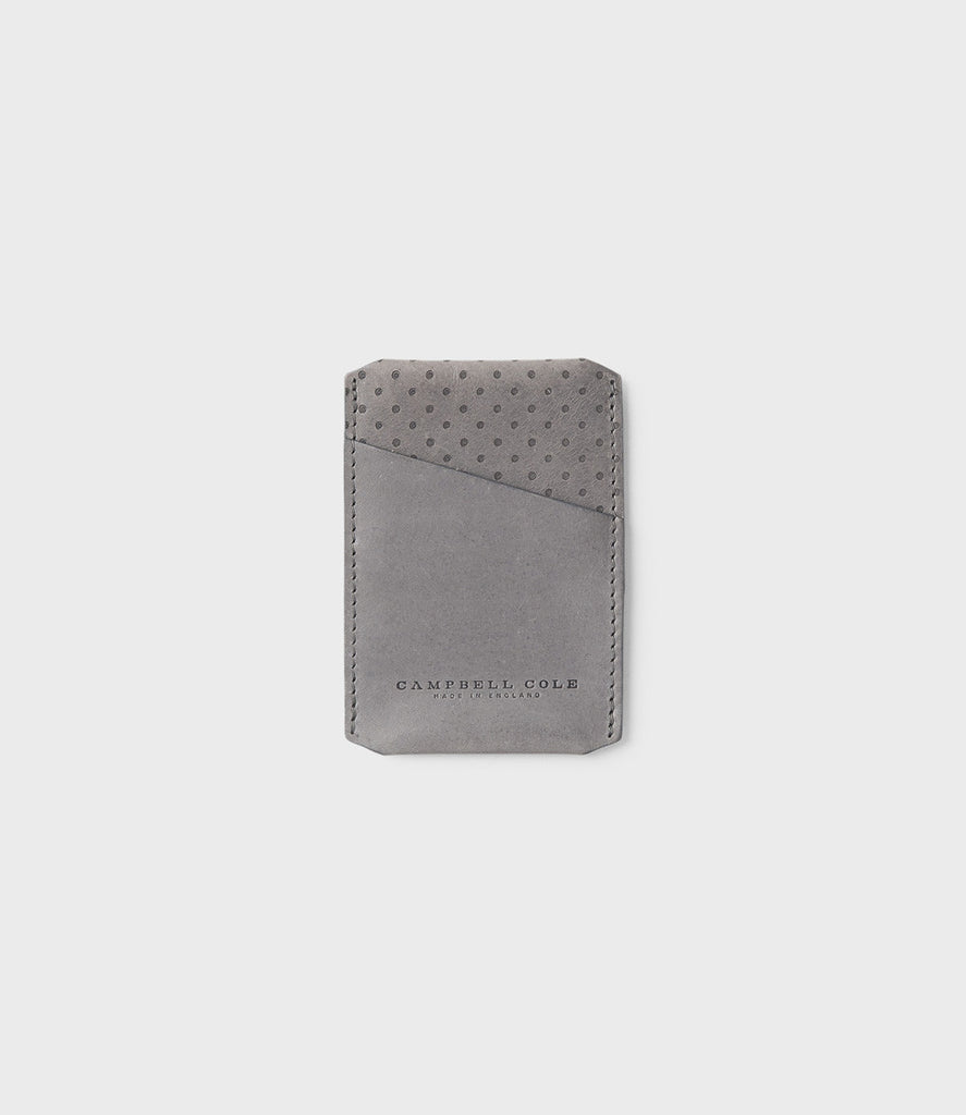 CAMPBELL COLE - CARD HOLDER - GREY - MADE IN ENGLAND - 01