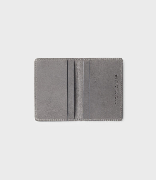 CAMPBELL COLE - CARD WALLET - GREY - MADE IN ENGLAND - 02