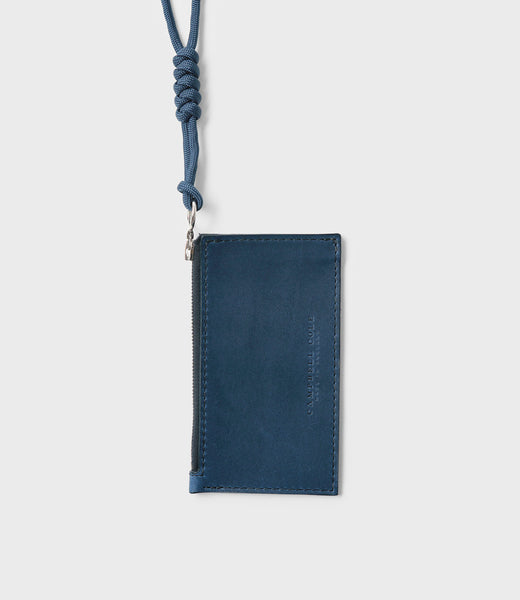 SIMPLE COIN POUCH, LANYARD - BLUE
