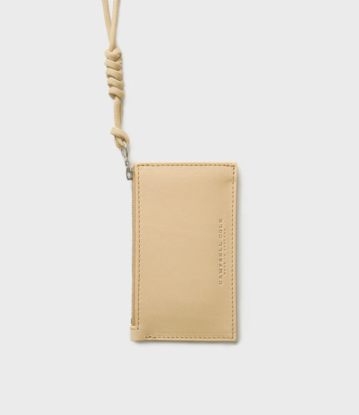 SIMPLE COIN POUCH, LANYARD - HONEY