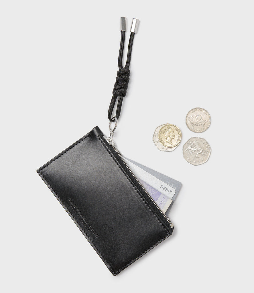 REBEL - SIMPLE COIN POUCH, PULLER - BLACK