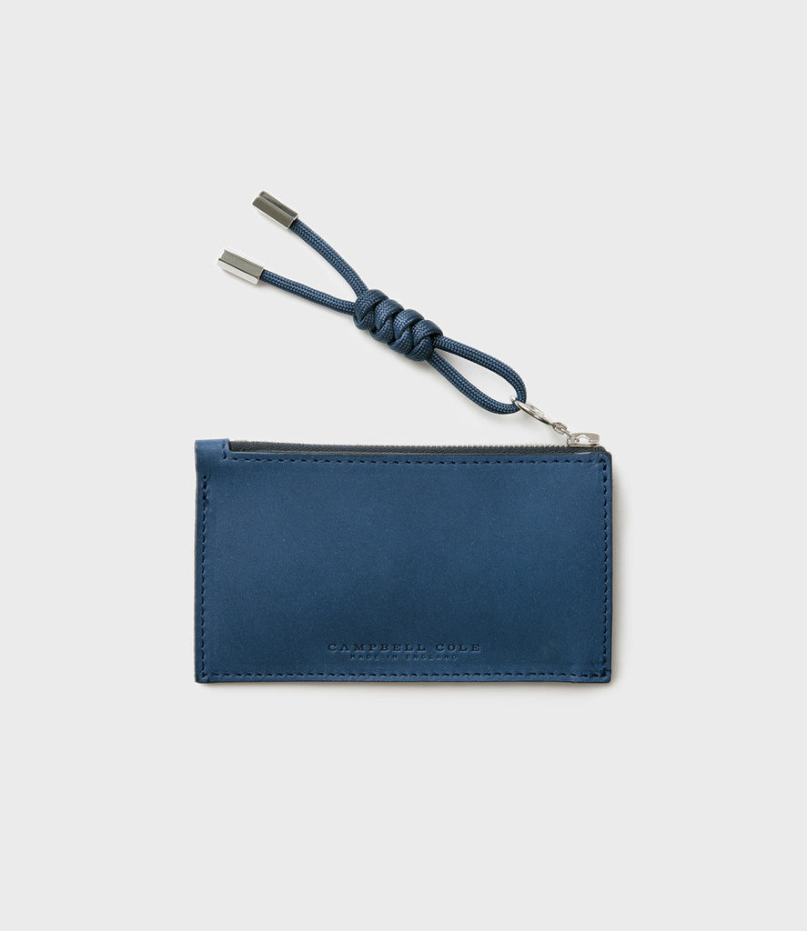 SIMPLE COIN POUCH, PULLER - BLUE