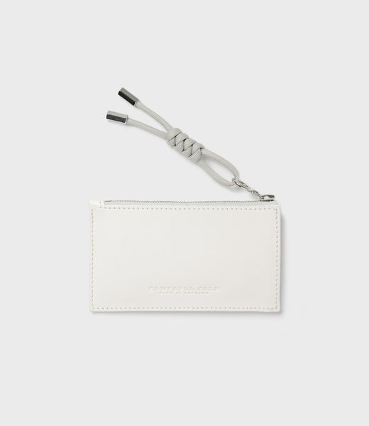 SIMPLE COIN POUCH, PULLER - CHALK