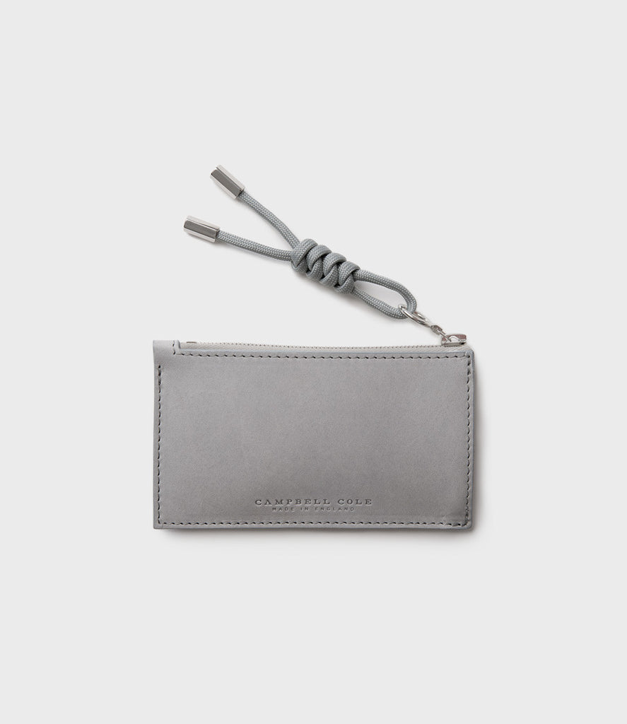 SIMPLE COIN POUCH, PULLER - GREY