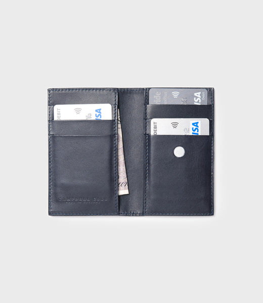SIMPLE SLIM CARD WALLET - NAVY
