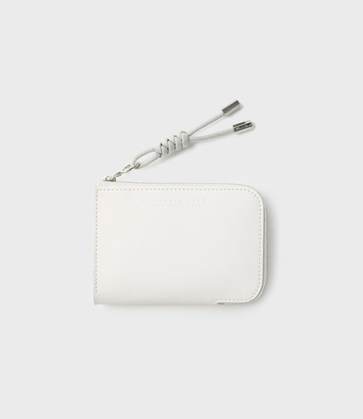 SIMPLE ZIP CORNER WALLET - CHALK