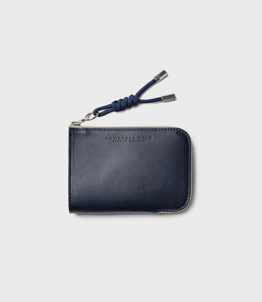 SIMPLE ZIP CORNER WALLET - NAVY
