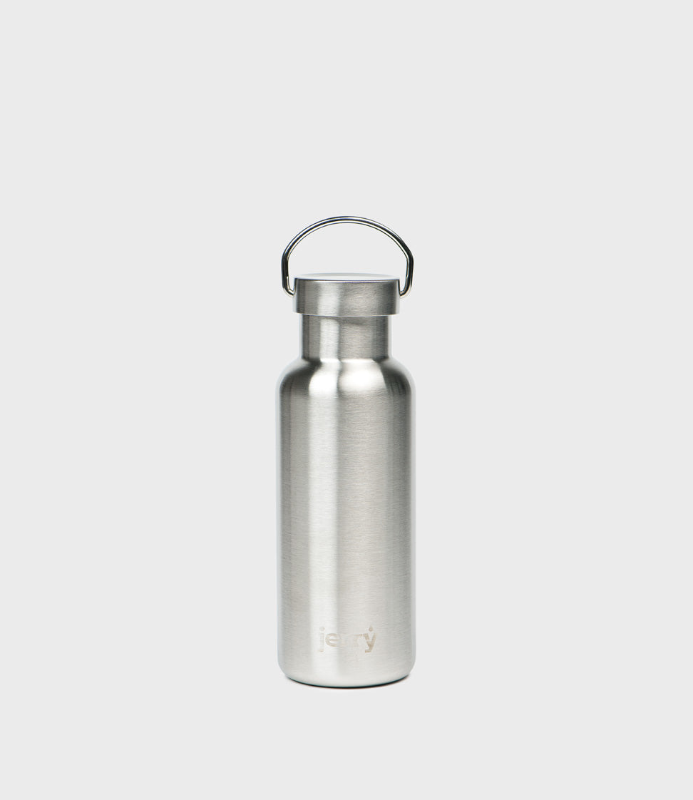 jerry 550ml water bottle brushed stainless steel campbell cole jerry 550ml water bottle brushed stainless steel