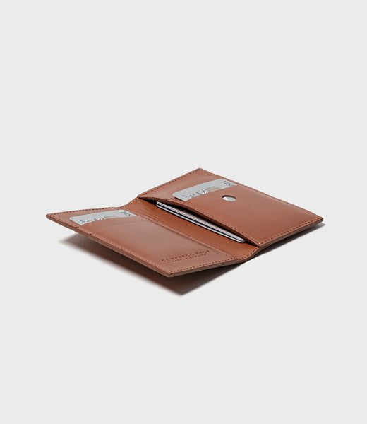 SIMPLE SLIM CARD WALLET - TAN