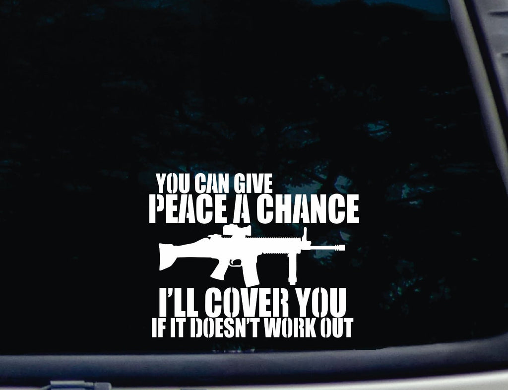 "You can give Peace a Chance I'll Cover You if it Doesn't Work Out 7"" Inches with Free Shipping!"