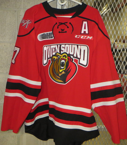 #17 Trenton Bourque Game Worn Jersey