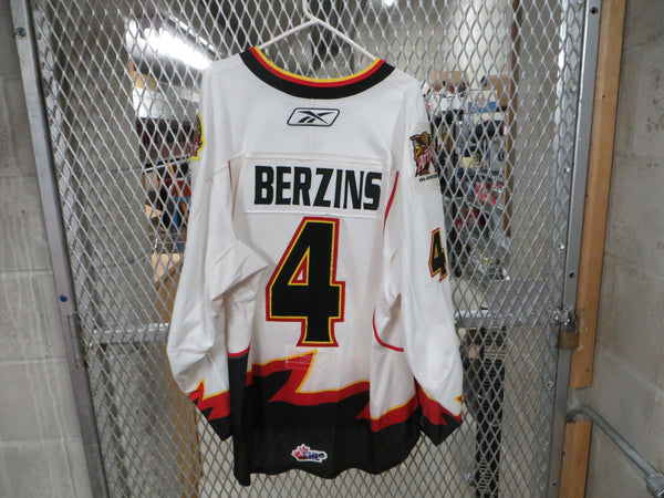 #4 Ricards Berzins Game Worn Jersey